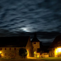 Burghof Cadolzburg Nacht