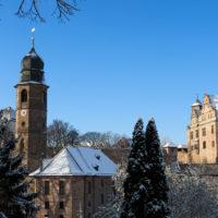 Kirche und Burg Cadolzburg im Winter