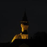 Aussichtsturm Cadolzburg bei Nacht