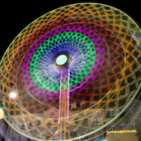 Fürther Michaelis Kirchweih Riesenrad Nacht